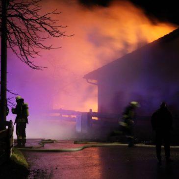 Grossbrand in Egmatinger Einfamilienhaus