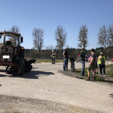 Verkehrsunfall – Motorrad und Traktor
